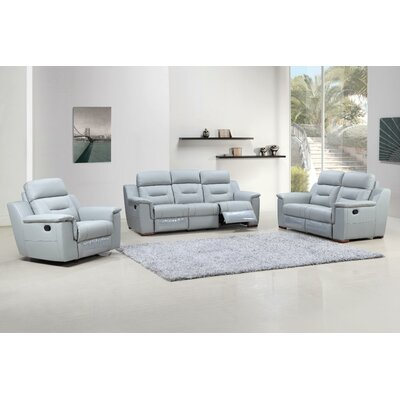 Kreger Air Upholstered 3 Piece Living Room Set Upholstery: Gray