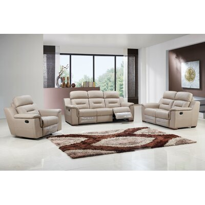 Kreger Air Upholstered 3 Piece Living Room Set Upholstery: Beige