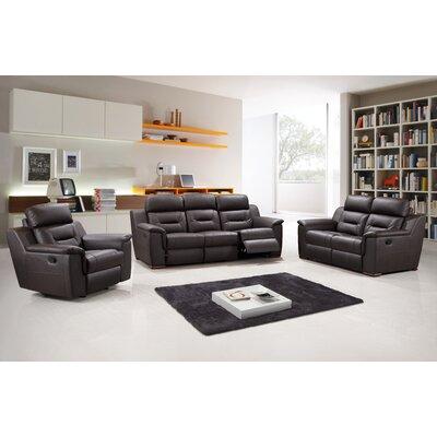 Kreger Air Upholstered 3 Piece Living Room Set Upholstery: Brown