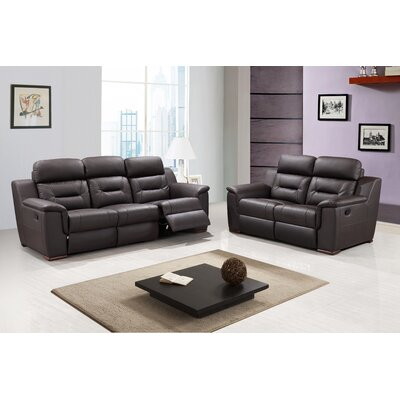 Kreger Air Upholstered 2 Piece Living Room Set Upholstery: Brown