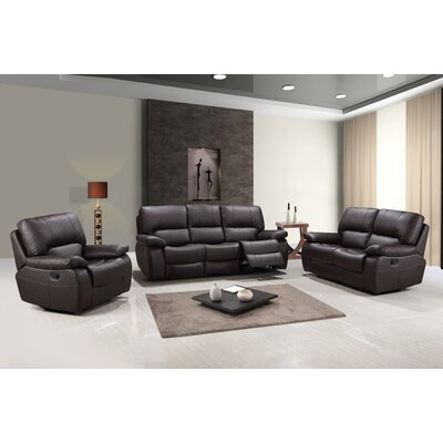 Claverton Air Upholstered 3 Piece Living Room Set Upholstery: Brown