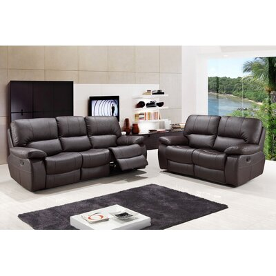 Claverton Air Upholstered 2 Piece Living Room Set Upholstery: Brown