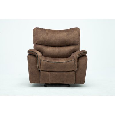 Palu Fabric Upholstered Living Room Manual Recliner Upholstery: Light Brown