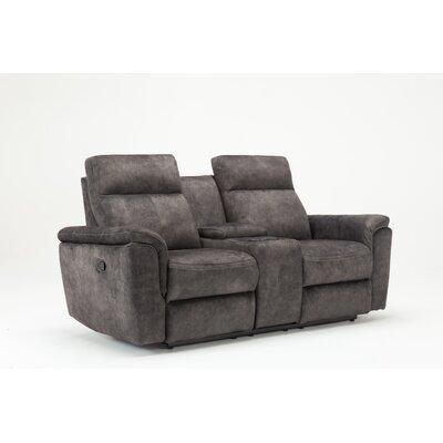 Palu Fabric Upholstered Living Room Recliner Reclining Loveseat Upholstery: Gray