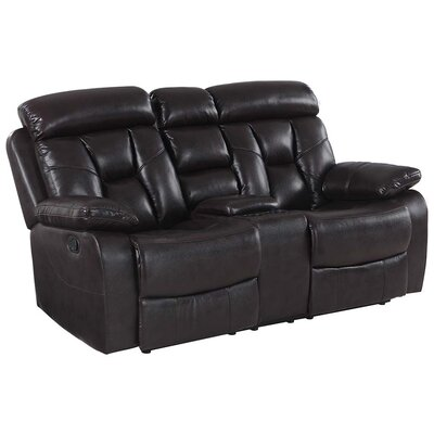 Claverton Down Air Reclining Loveseat Upholstery: Brown