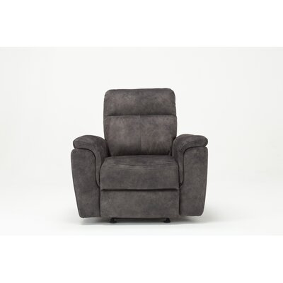 Palu Fabric Upholstered Living Room Manual Recliner Upholstery: Gray