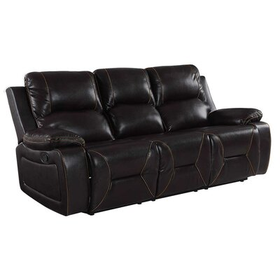 Ullery Upholstered Living Room Recliner Reclining Sofa Upholstery: Brown