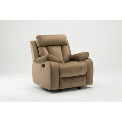Trower Upholstered Living Room Manual Recliner Upholstery: Beige