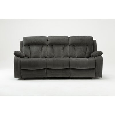 Ullery Upholstered Living Room Reclining Sofa Upholstery: Gray