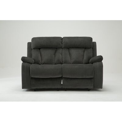 Ullery Upholstered Living Room Reclining Loveseat Upholstery: Gray