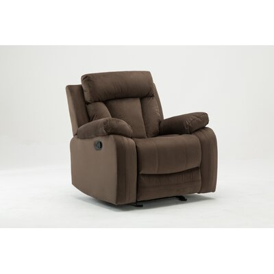 Trower Upholstered Living Room Manual Recliner Upholstery: Brown