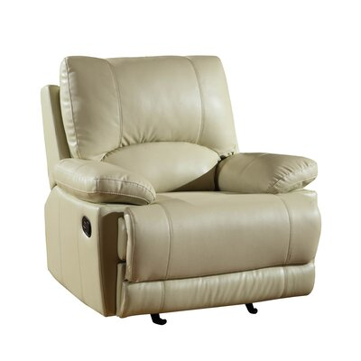 Ullery Upholstered Living Room Manual Recliner Upholstery: Beige