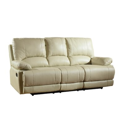 Ullery Upholstered Living Room Recliner Reclining Sofa Upholstery: Beige