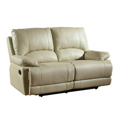 Ullery Upholstered Living Room Recliner Reclining Loveseat Upholstery: Beige