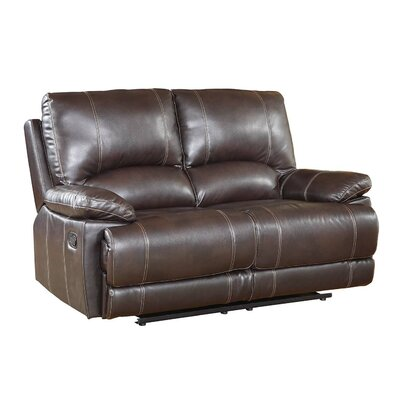 Ullery Upholstered Living Room Recliner Reclining Loveseat Upholstery: Brown