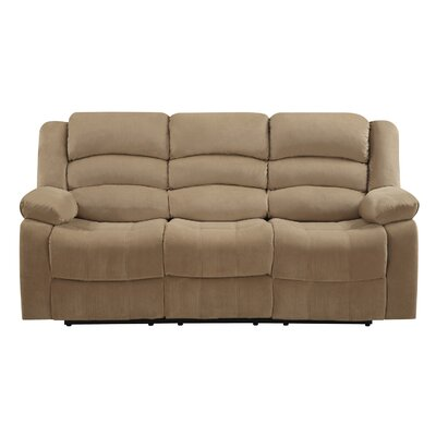 Updegraff Microfiber Fabric Upholstered Living Room Recliner Reclining Sofa Upholstery: Beige