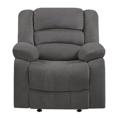 Trower Upholstered Living Room Manual Recliner Upholstery: Gray