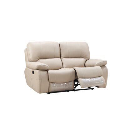 Claverton Air Reclining Loveseat Upholstery: Beige