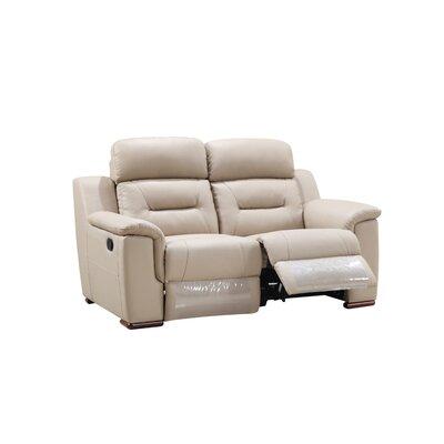 Kreger Air Reclining Loveseat Upholstery: Beige
