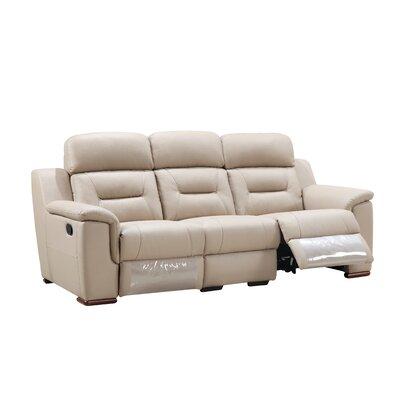 Kreger Air Reclining Sofa Upholstery: Beige