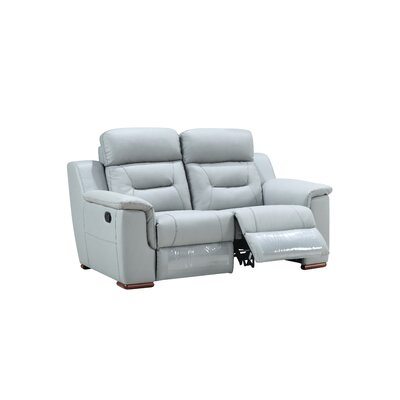 Kreger Air Reclining Loveseat Upholstery: Gray