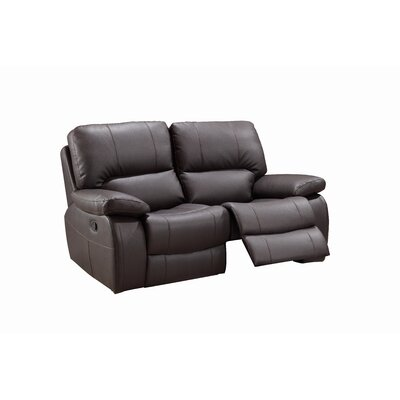 Claverton Air Reclining Loveseat Upholstery: Brown