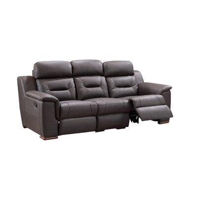Kreger Air Reclining Sofa Upholstery: Brown