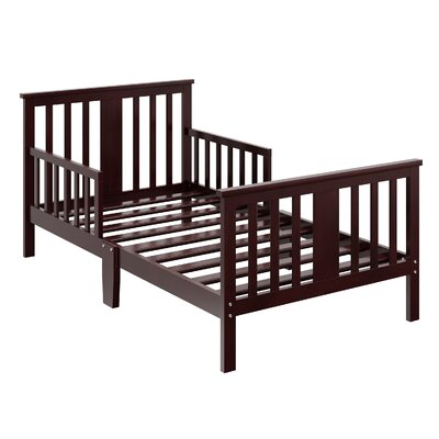 Mission Ridge Toddler Slat Bed Bed Frame Color: Espresso