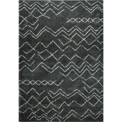 Cedar Shaggy Black Area Rug Rug Size: Rectangle 65 x 95