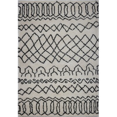 Chesnut Shaggy Ivory/Black Area Rug Rug Size: Rectangle 52 x 75