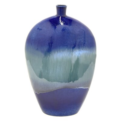 Gaytan Floor Vase Color: Blue
