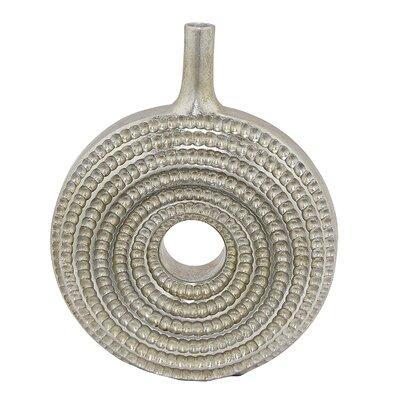 Heflin Textured Floor Vase Color: Silver