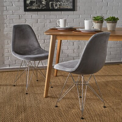 Coreen Upholstered Dining Chair Upholstery Color: Smoke
