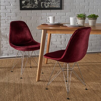 Coreen Upholstered Dining Chair Upholstery Color: Garnet