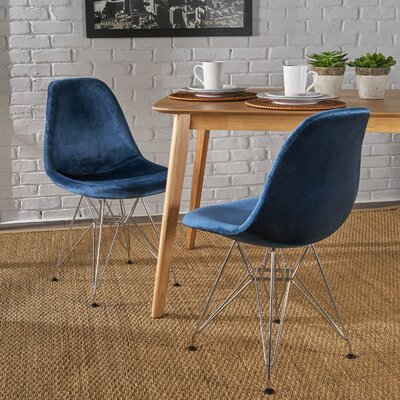 Coreen Upholstered Dining Chair Upholstery Color: Cobalt