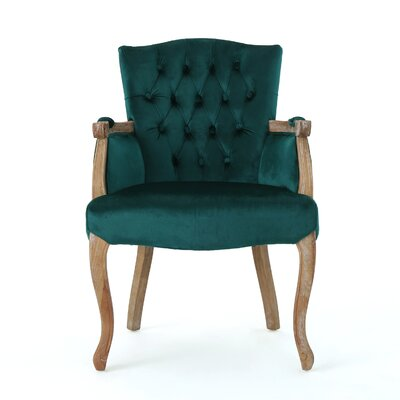 Prendergast Upholstered Dining Chair Upholstery Color: Teal