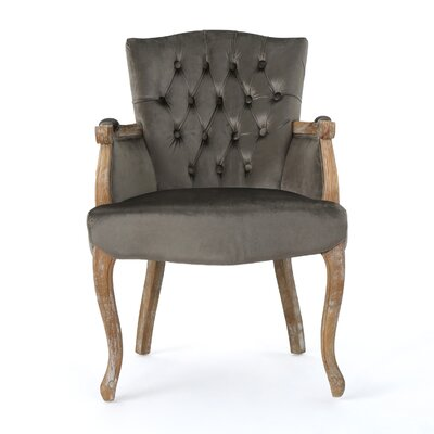 Prendergast Upholstered Dining Chair Upholstery Color: Gray