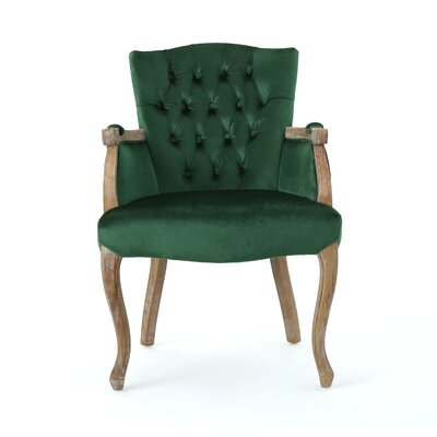 Prendergast Upholstered Dining Chair Upholstery Color: Emerald