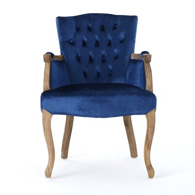 Prendergast Upholstered Dining Chair Upholstery Color: Navy Blue