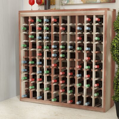 Karnes Redwood Deluxe 100 Bottle Floor Wine Rack Finish: Natural