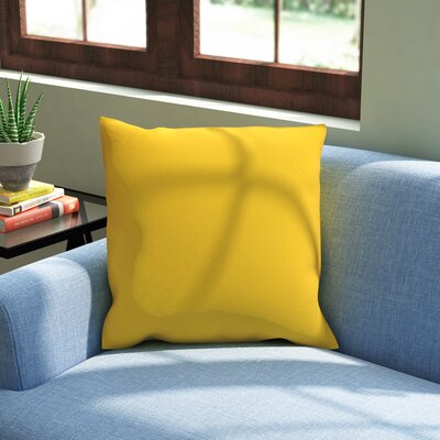 Alarick Cotton Throw Pillow Size: 16 H x 16 W x 5 D, Color: Yellow