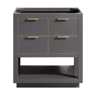 Allie 30 Single Bathroom Vanity Base Base Finish: Twilight Gray/Matte Gold