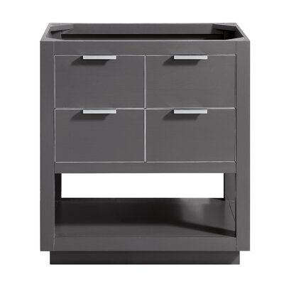 Allie 30 Single Bathroom Vanity Base Base Finish: Twilight Gray/Brushed Silver