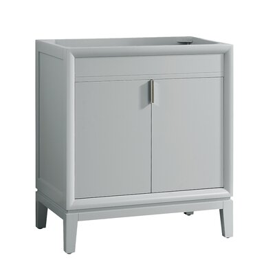 Emma 30 Single Bathroom Vanity Base Base Finish: Dove Gray/Brushed Nickel