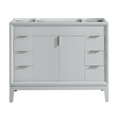 Emma 42 Single Bathroom Vanity Base Base Finish: Dove Gray/Brushed Nickel