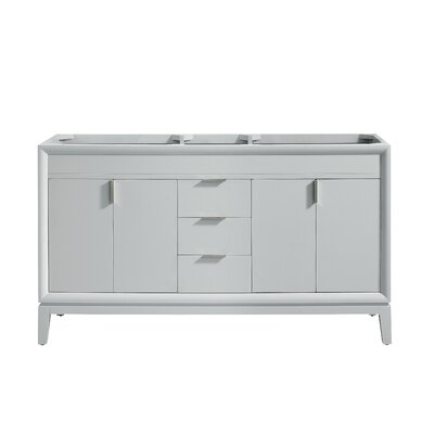Emma 60 Double Bathroom Vanity Base Base Finish: Dove Gray/Brushed Nickel