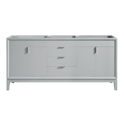Emma 72 Double Bathroom Vanity Base Base Finish: Dove Gray/Brushed Nickel