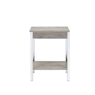 Hassinger End Table Color: Gray Oak