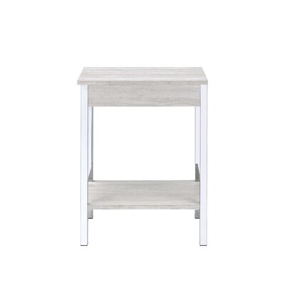 Hassinger End Table Color: White
