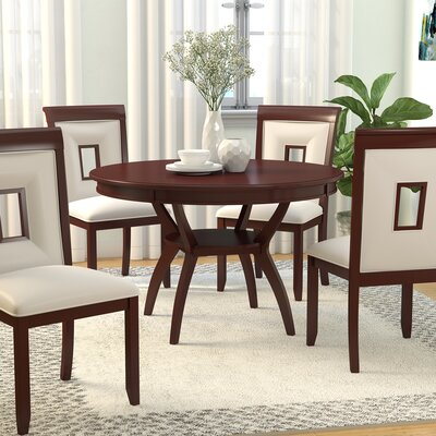 Deherrera 5 Piece Dining Set Upholstery Color: Cream